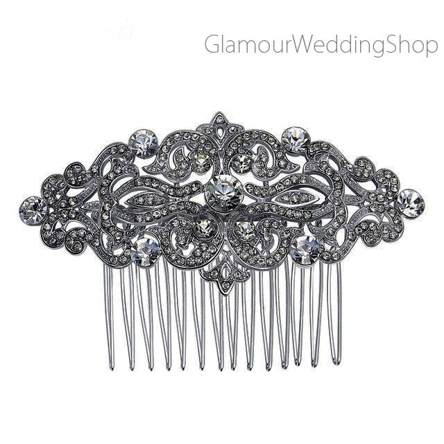 Crystal Silver Hair Comb Bridal Hairpiece Wedding Accessories Rhinestone Combs Headpiece Jewelry