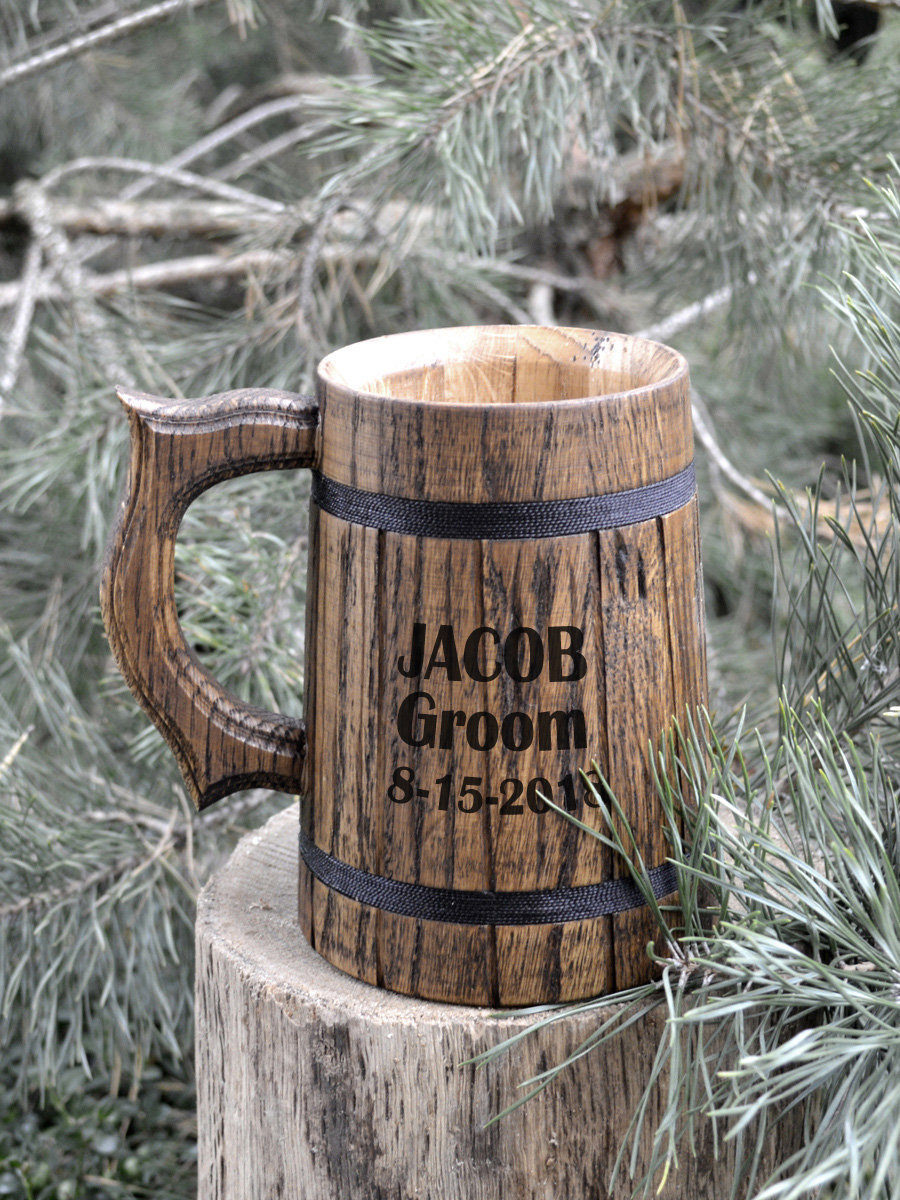 Set Of 12 Groomsmen Gifts, Groomsman Gift, Personalized Beer Mugs, Gifts For Wedding Party, Best Men Gift - Tankards