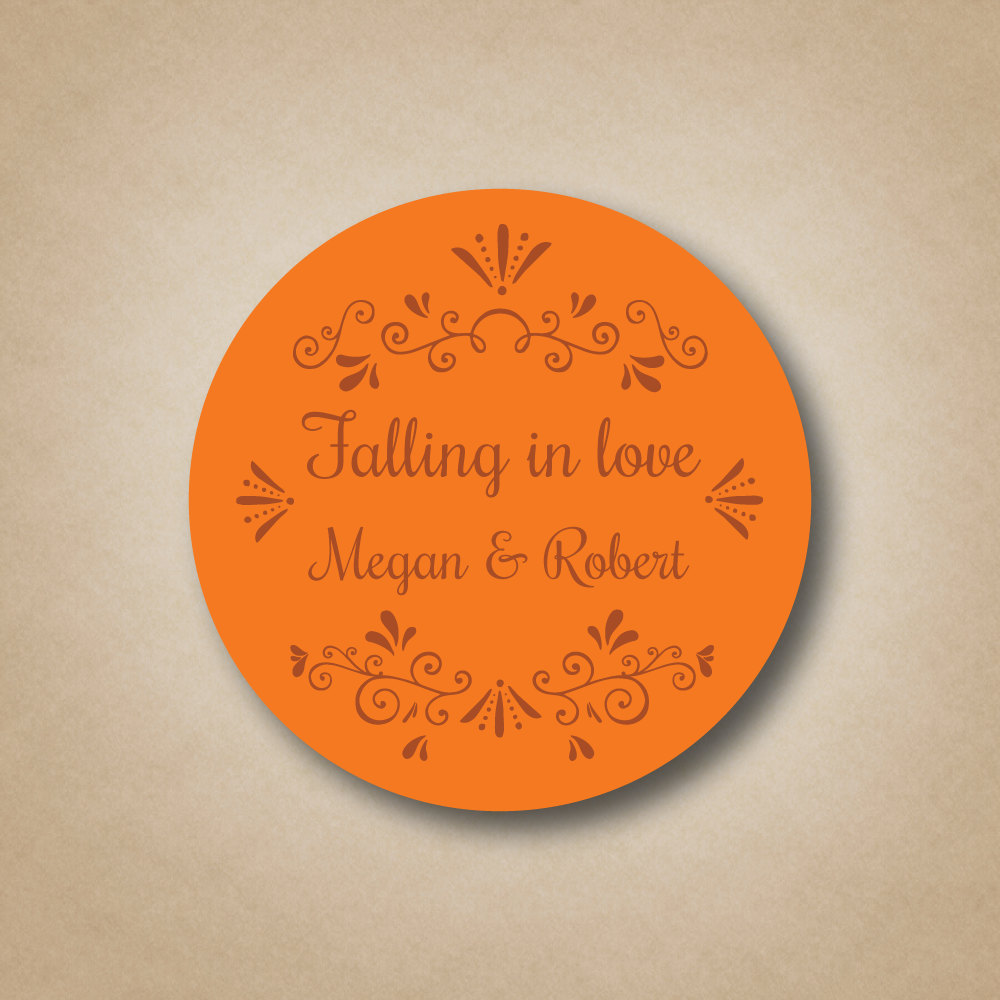 Fall Wedding Favors Falling in Love Stickers Autumn Favor Sticker Love Stickers Labels Ideas