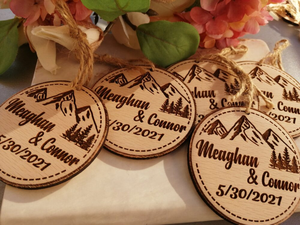 Wooden Wedding Favors, Ornaments Wood, Party Favors For Guests, Wood, Ornaments Favor Guests & Christmas