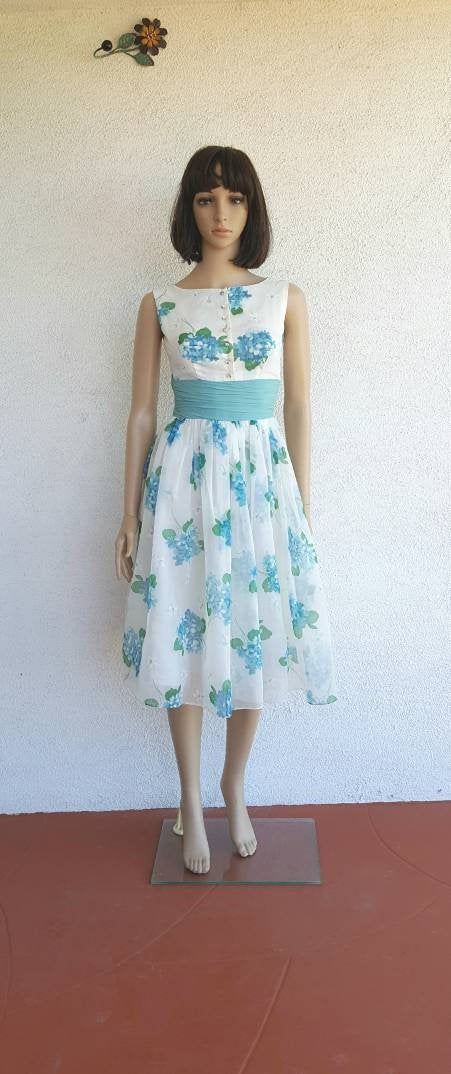 Chiffon 1950S Dress, Vintage Womens Clothing, Dresses Online, 1960S Dresses, Retro Dress Size Xs 0 2