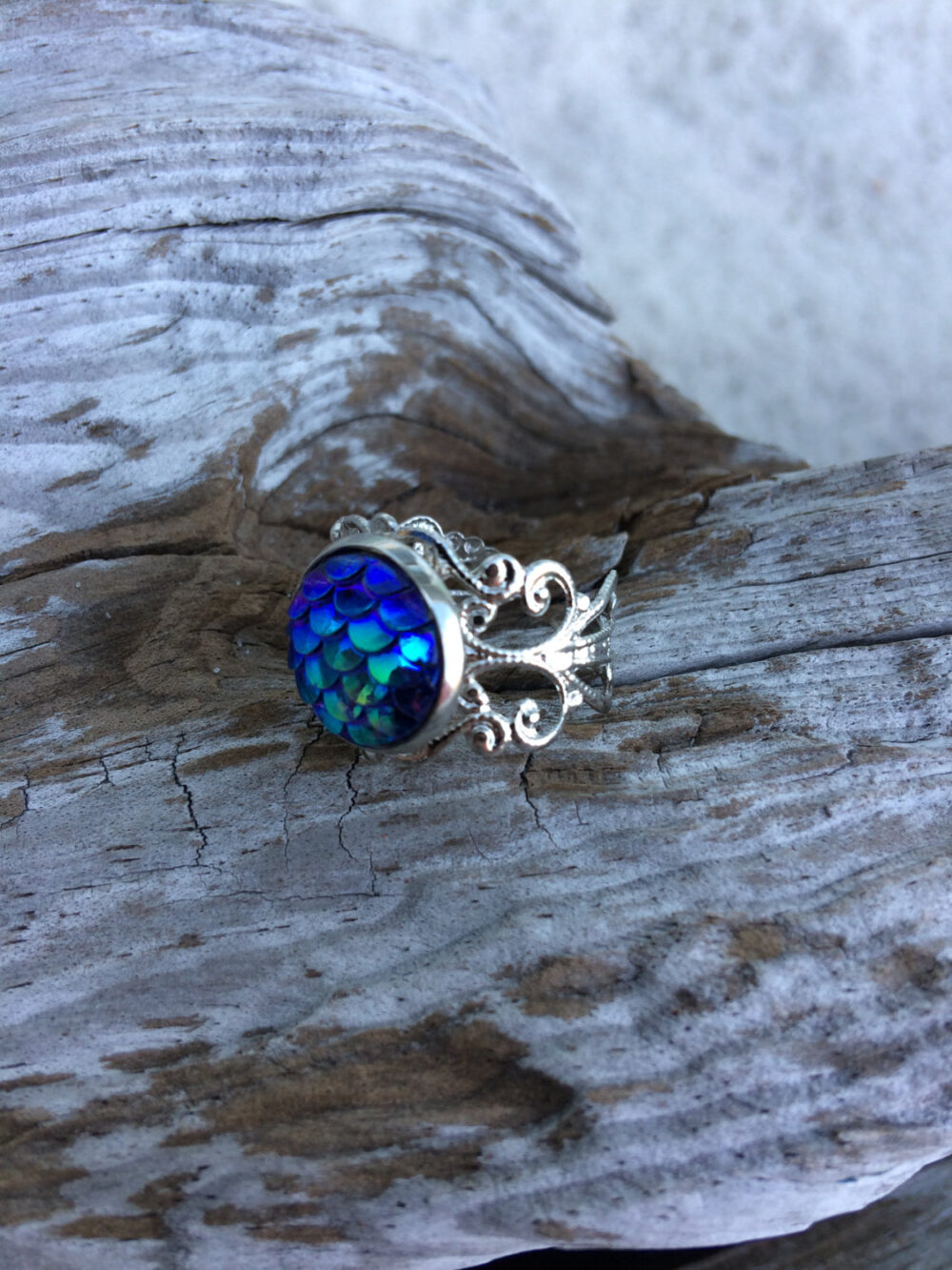 Silver Mermaid Ring, Fishing Jewelry, Christian Rings, Gift, Gift