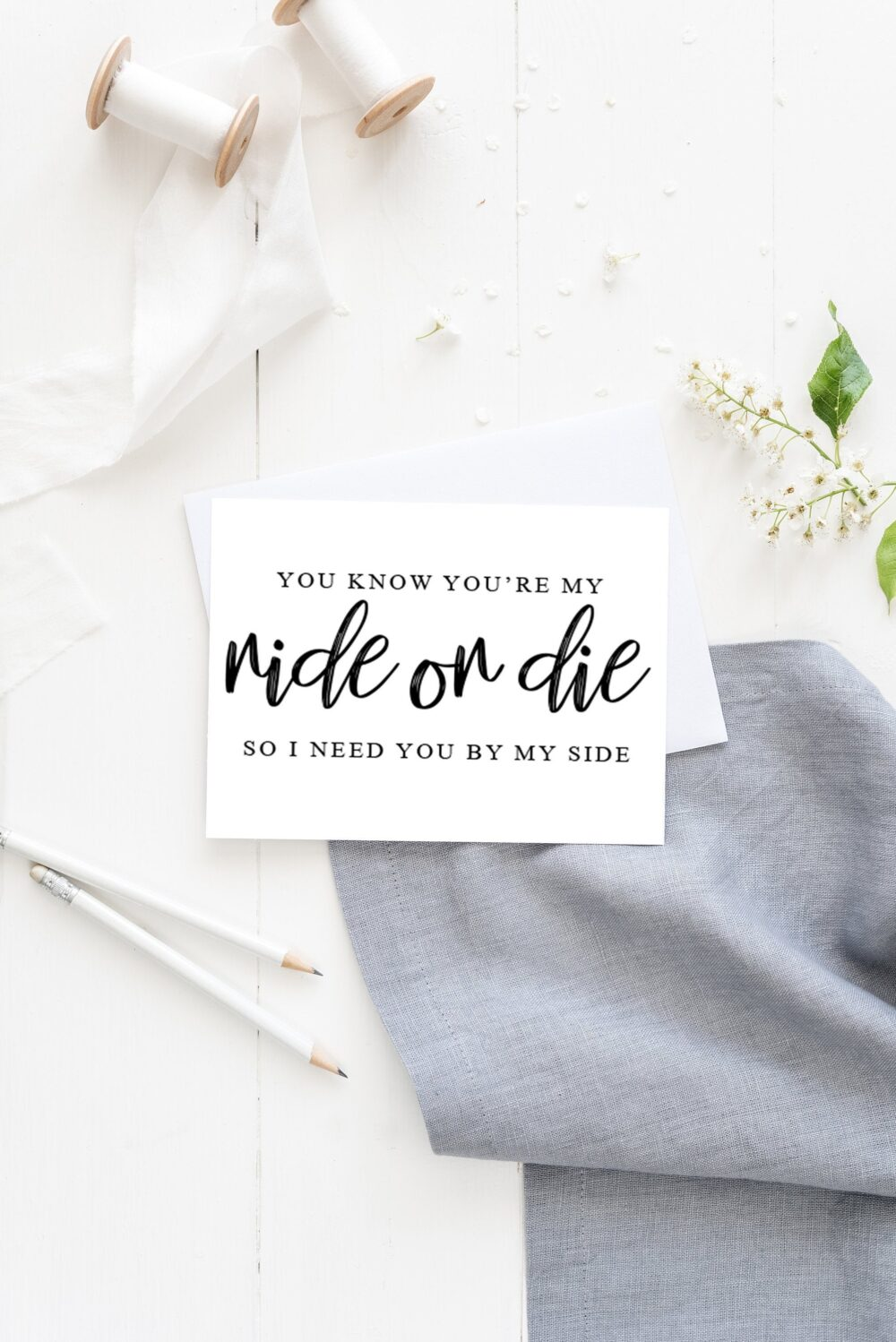 Bridesmaid Proposal Card, You Know You're My Ride Or Die, So I Need By Side, Funny Wedding Will Be