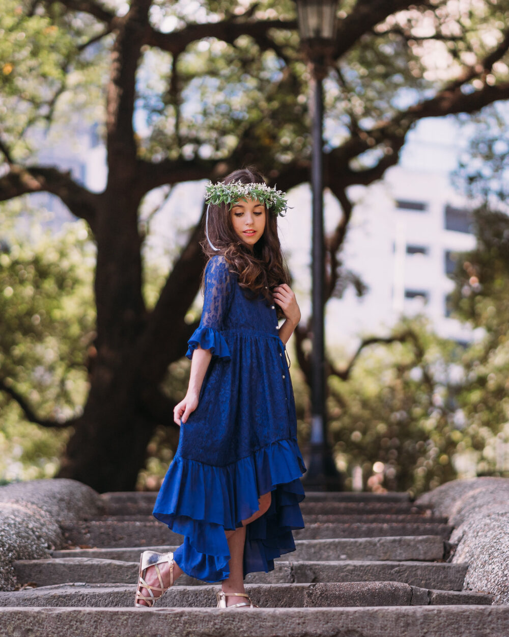 Tween Navy Lace Dress | Toddler Girl Holiday Party Christmas Outfit Fall Photoshoot Blue Winter Mara