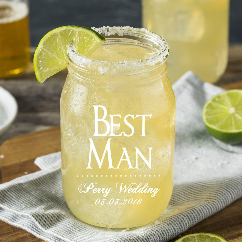 Custom Engraved Beer Glass, Groomsmen Gifts, Personalized Mason Jars, Mugs, Gifts For Men, Proposal, Best Man Glass