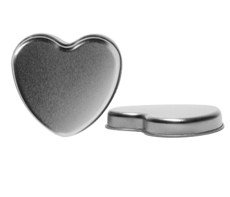 Heart Shaped Tin Box With Lids - 7 Oz, Use For Party Favors; Fill Them Mints, Nuts, Candies, Jelly Beans & More. | 5 Pieces