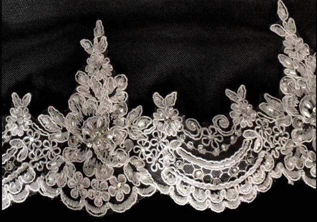 Lace Cathedral Veil, Wedding Veil With Lace