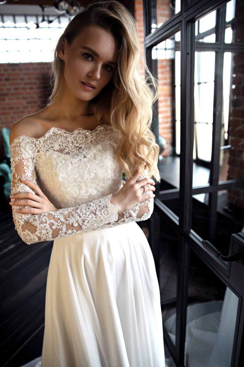 Olivia Fly By Bottega Floral Lace Bodice Wedding Gown | Dress
