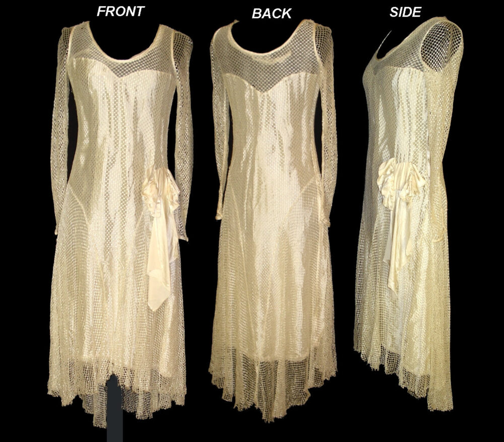 Vintage Late 1920S 20S 1930S 30S Art Deco Nouveau Dress Wedding Gown Old Hollywood Gatsby Flapper Nior Harlow Authentic