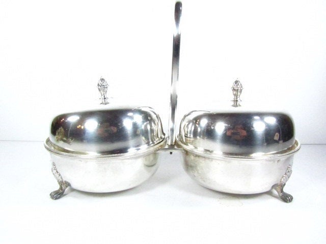 Vintage Silver Bowls, Serving Dish, Shabby Chic Decor, Silver Dish, Wedding Decor