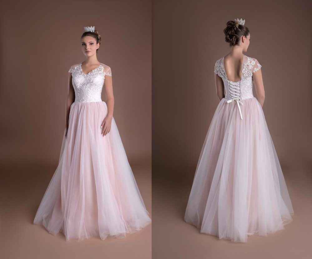 Light Pink Princess Ball Gown Prom Dress Brides Casual Bridal Shower Wedding Reception Dresses For Blush Retro Lace Gowns