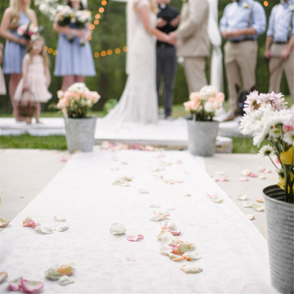 16'/40'ft Wedding Aisle Runner White Carpet Rugs Decoration Party Indoor Outdoor Ceremony Long Polyester Floor