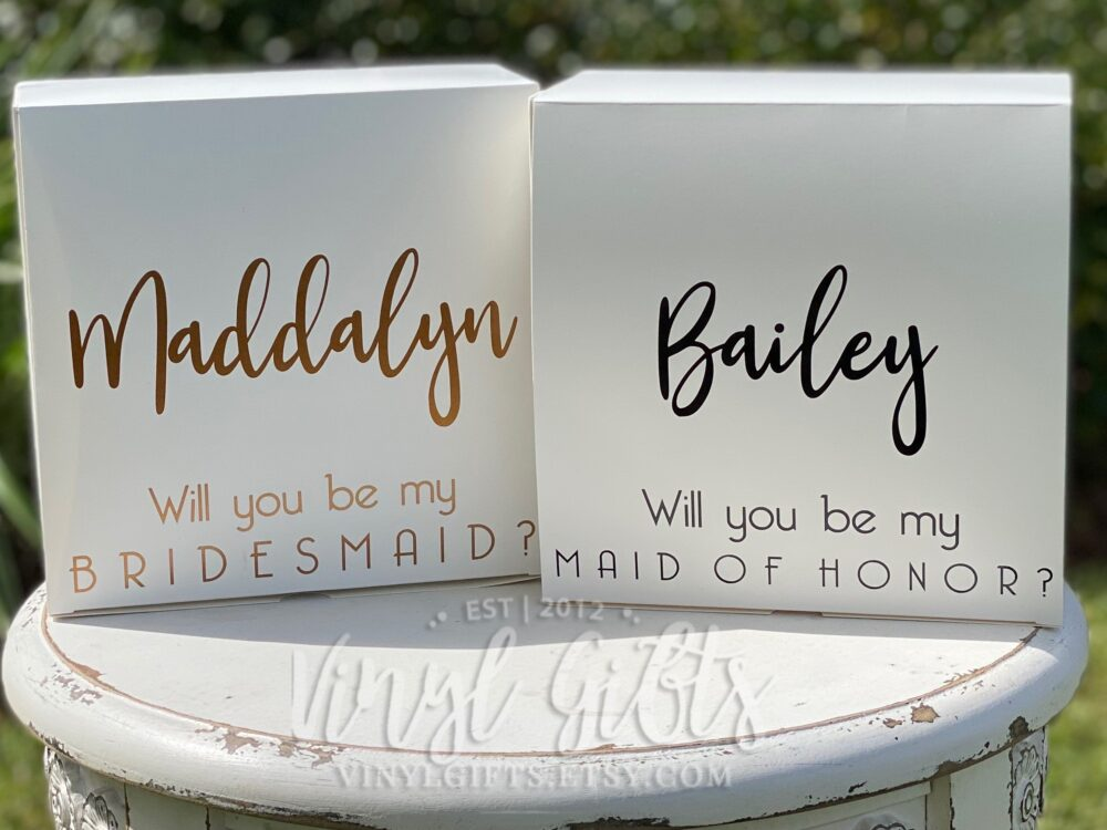Bridesmaid Proposal Box, Custom Gift