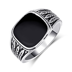 solid 925 sterling silver onyx stone turkish handmade luxury men's ring (9) Lightinthebox
