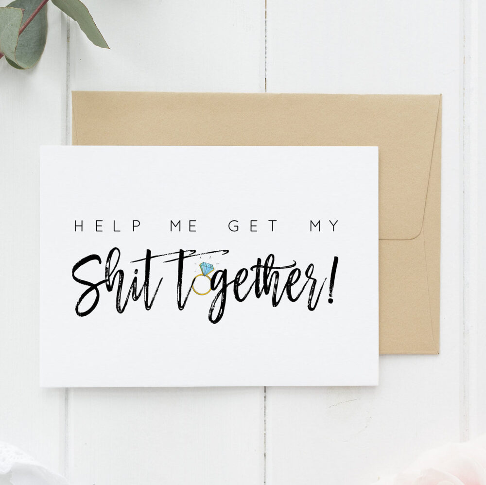 Funny Bridesmaid Card, Proposal, Moh Cards, Asking Help Me Get My Shit Together | Hmgms101
