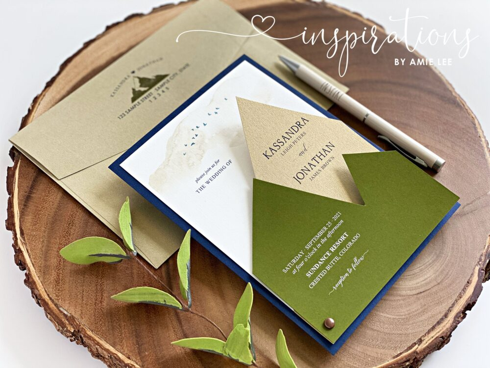 Mountain Wedding Invitations, Rustic Elegance, Colorado, Country Wedding, Rocky Mountains, Destination