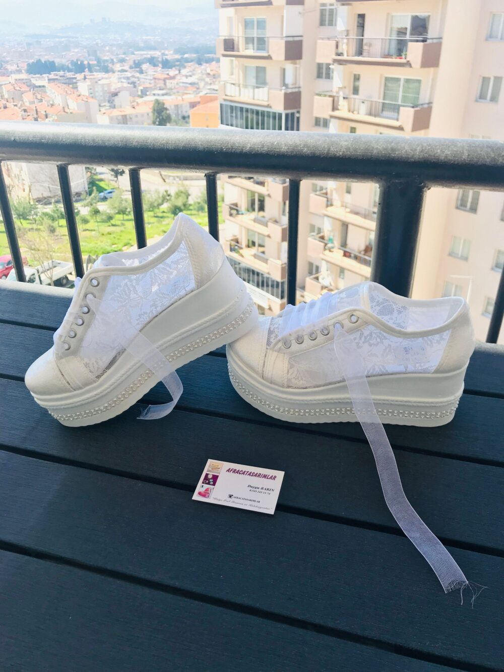 Wedding Shoes, Platform Shoes , Sneakers, Bridal Heels, Women's Brides Lace Sneakers, Lace Heel