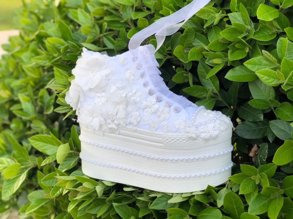 Wedding Platform Shoes, Bridal Sneakers, Bride Women's Shoes, Wedding Heel Shoes, Pearl Sneakers, Special Shoes, Lace