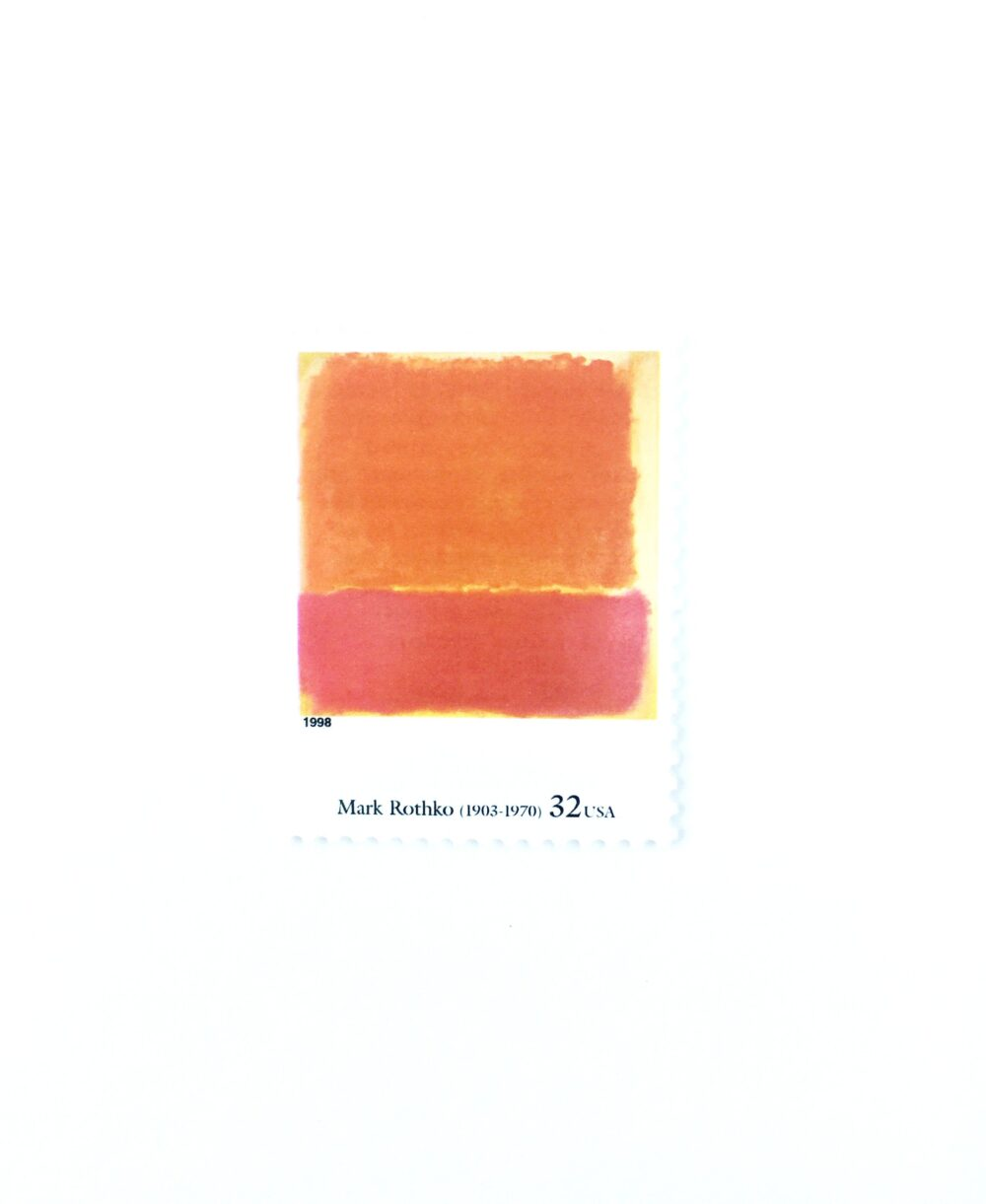 "5 ""No. 12"" By Mark Rothko Postage Stamps // Unused 32 Cent Stamp Four Centuries Of American Art Wedding Postage Modern"
