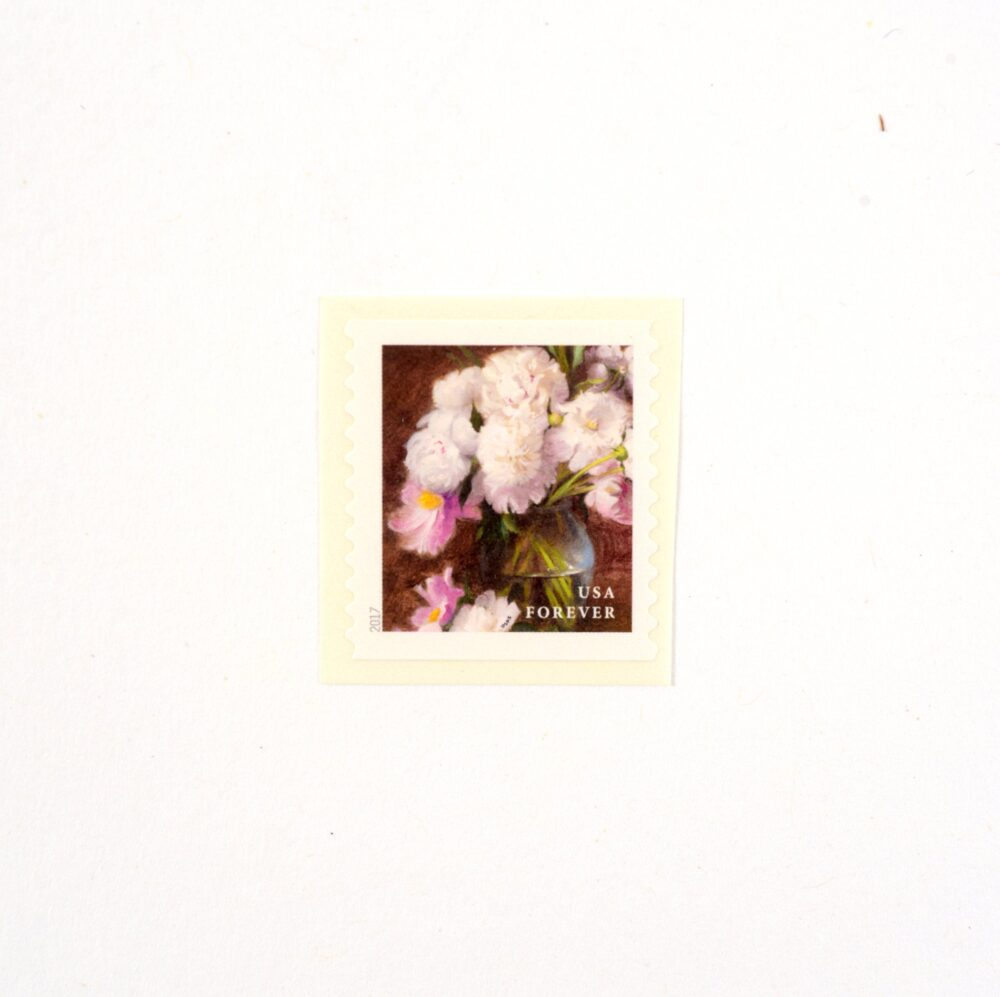 10 White & Pink Peony Postage Stamps // Unused Flowers From The Garden Forever Wedding Postage Botanical