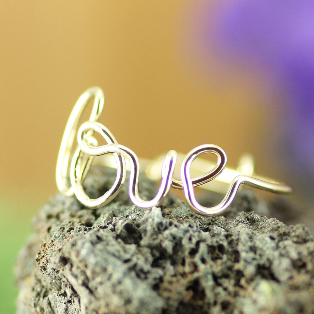 Love Ring Gold, Cursive Gold Ring, Valentine's Gift, Adjustable Thumb Romantic Gift For Her, Girlfriend Anniversary Gift, Bff