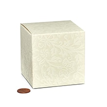 Jewel Lace Favor Boxes Cardboard - Quantity: 200 Width: 3 1/4 Height/Depth: 3 1/4 Length: 3 1/4 by Paper Mart