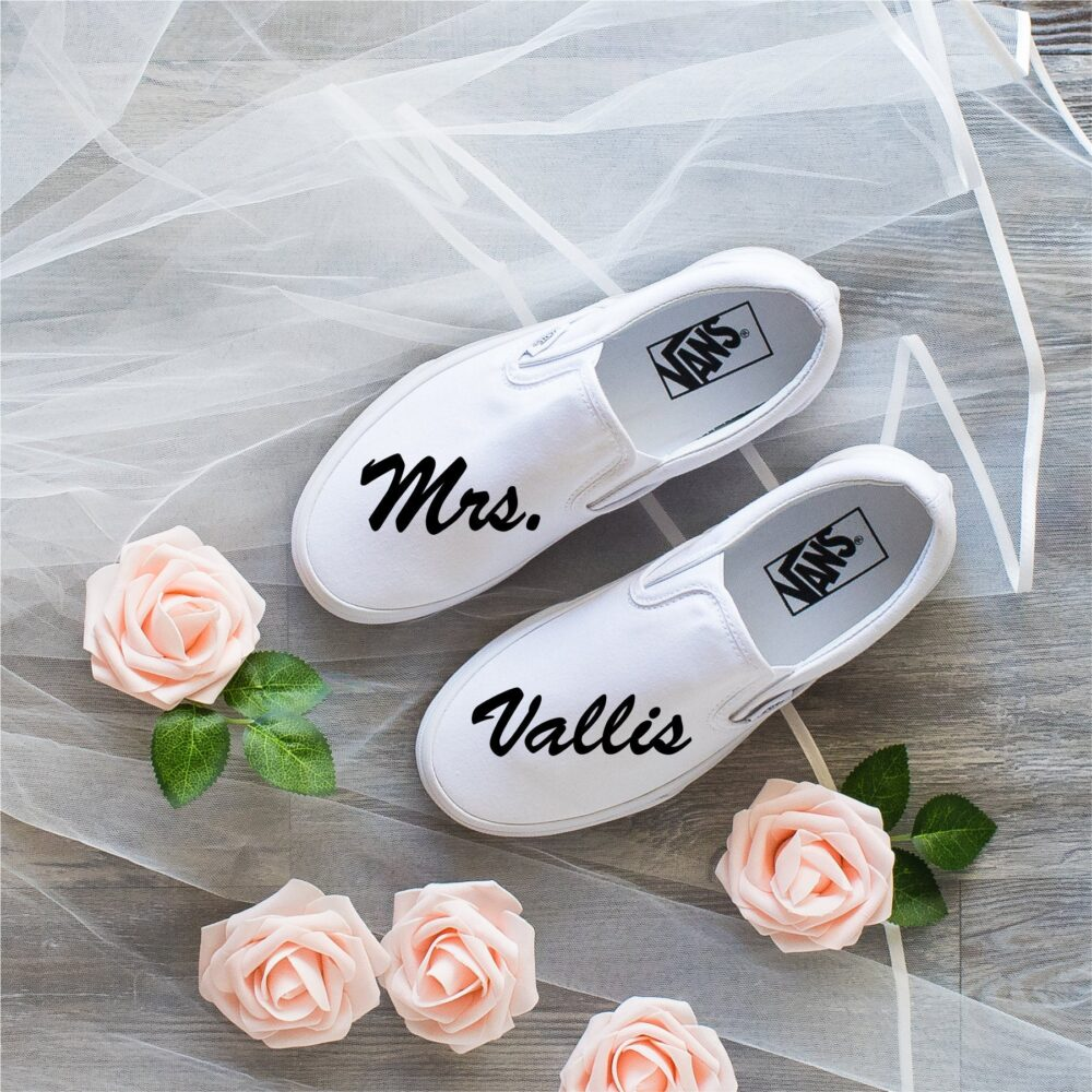 Just Married Wedding Shoes, Vans Slip On, Bride & Groom Gift, Wedding Outfit, Bridal Party