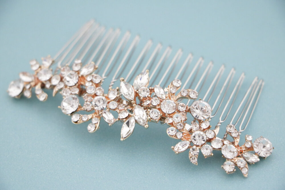 Crystal Bridal Hair Comb, Silver Rhinestone Comb For Bride, Clear Piece Wedding, Wedding Accessory, Bride Comb, Boho