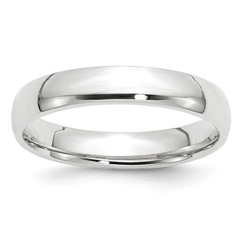 Real Comfort Fit 10K Solid White Gold 4mm Men's & Women's Wedding Band Midi Thumb Toe Ring Sizes 4-14. 10K Gold. U.s Made