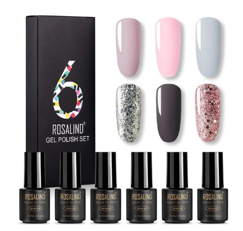 Gel Nail Polish 6Pcs Set Hybrid Varnish All For Manicure Platinum Lacquer & Kit