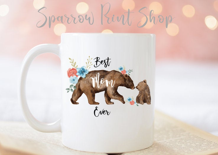 15% Off| Best Mom Ever| Mama Bear| Mommy Big Bear Mom| Mother's Day Gift| Gifts For Mother Mug| Coffee Mug