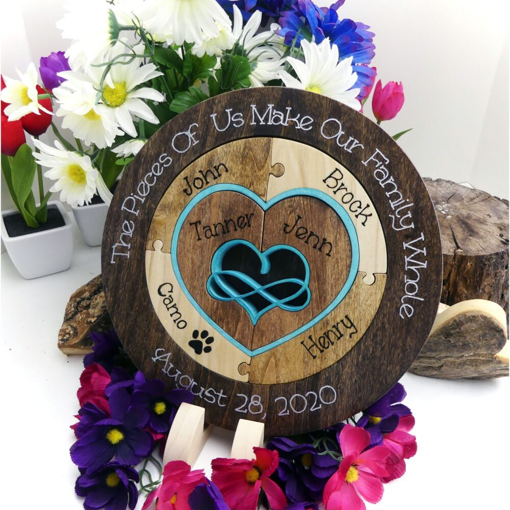Family Wedding Unity Puzzle Ceremony Alternative Blend Gift For The Couple Personalized Heirloom