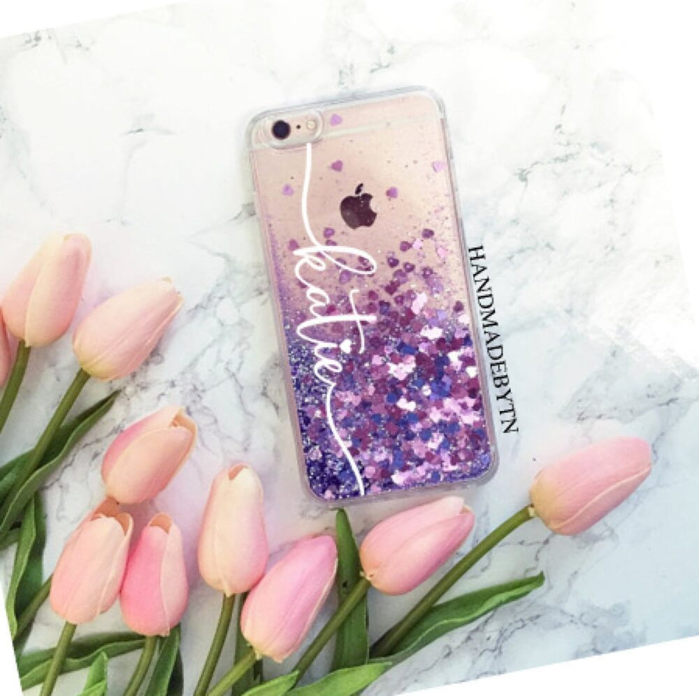 Purple Glitter Ipod Case Touch 6 Case 5 Touch 7 Phone Case, Gift For Daughter, Christmas Gift, Mom