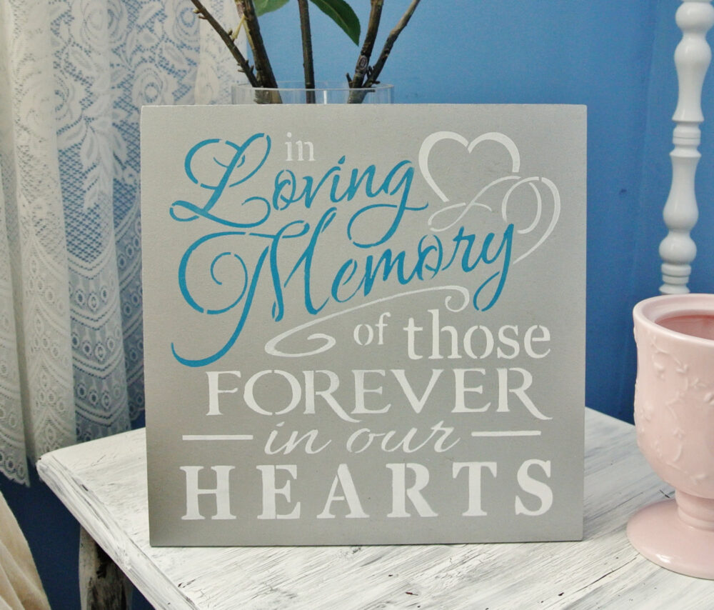 Teal Wedding Sign, in Loving Memory Of Those Forever in Our Hearts, Memorial Table, Of, Turquoise Wedding Decor