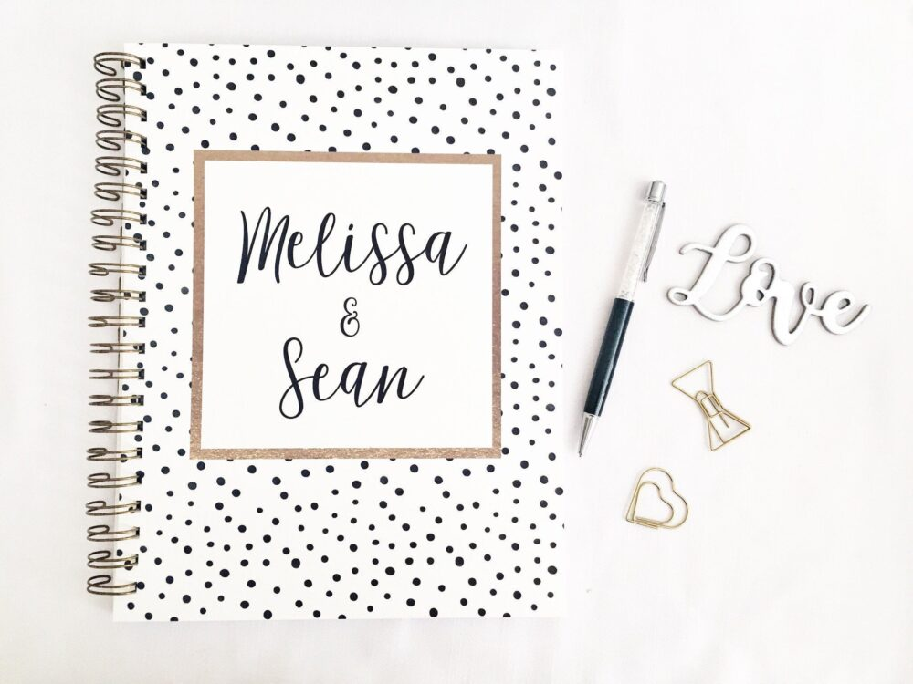 Personalized Wedding Planner Book, Bridal Planner, Wedding Bride To Be Gift, Engagement Wedding, Checklist
