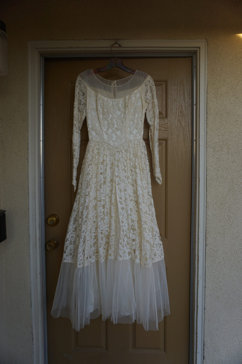 Vintage 1940S 1950S Tulle Wedding Gown Dress Fits S Small 40S 50S Layered Layers Fuffles
