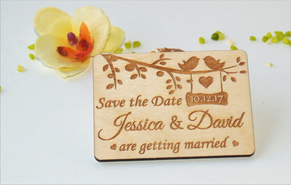 Save The Date Invitations, Rustic, Magnet, Wood Save Date, Magnet Cards