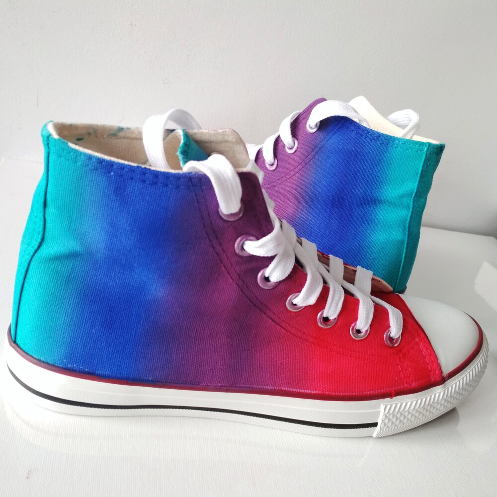 Custom Hand Painted Rainbow Shoes, Converse, Berry Shoes, Sneakers
