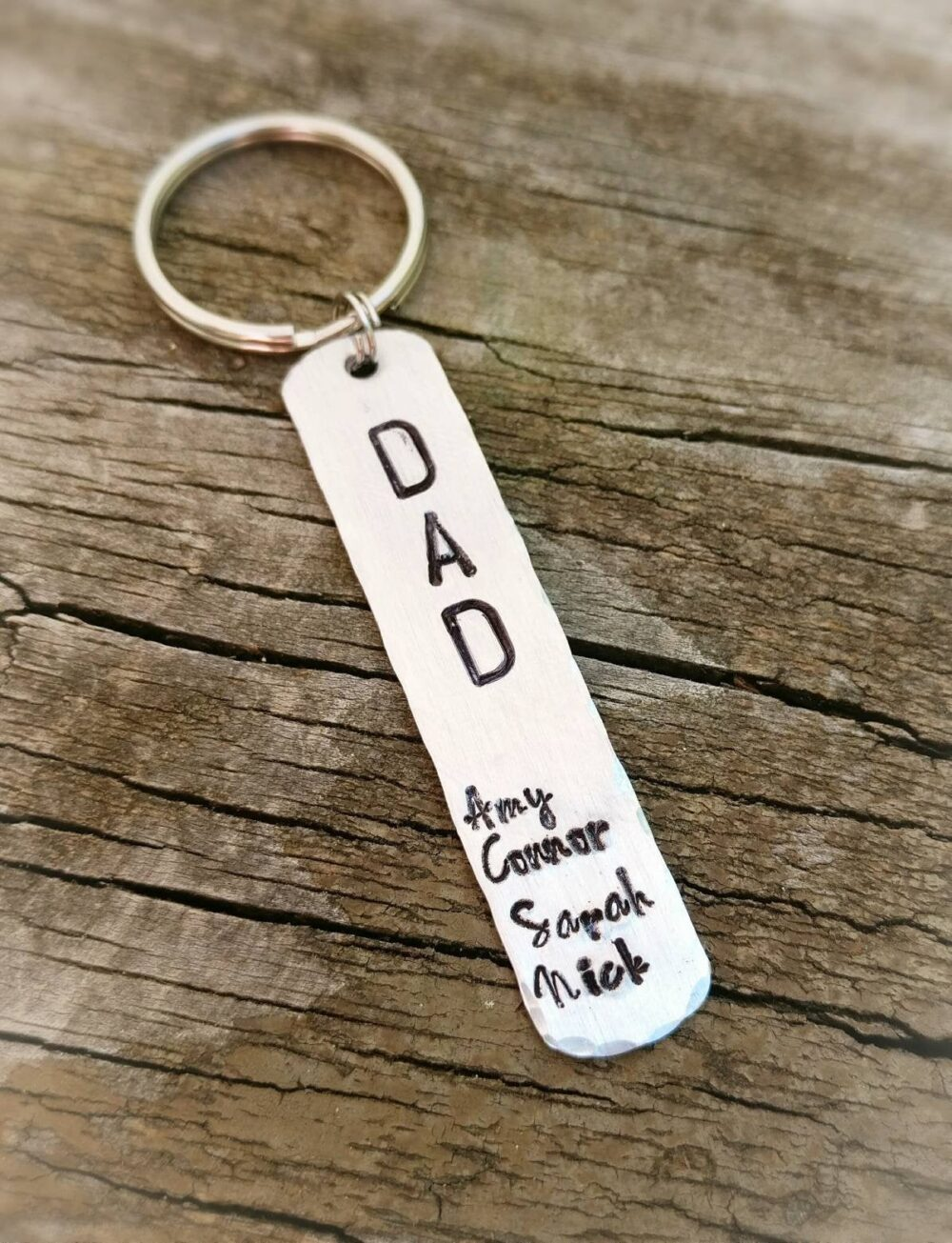 Gift For Dad - Dad Keychain, Family Dad Gift, Gift With Names, Keychain, Keychain For Dad, Father's Day