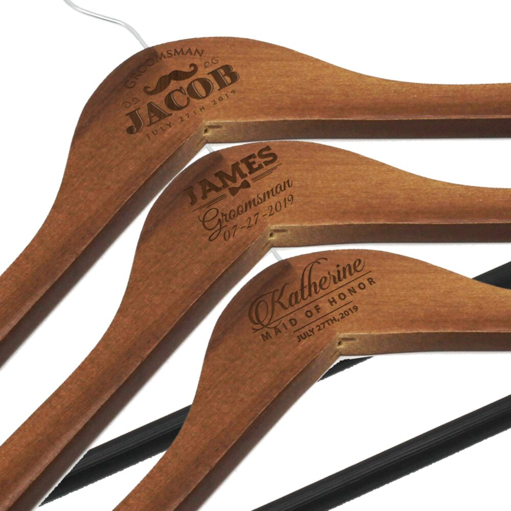 Personalized Groom Hanger - Custom Bride Wedding Party Hangers Groomsmen For Weddings & Couples