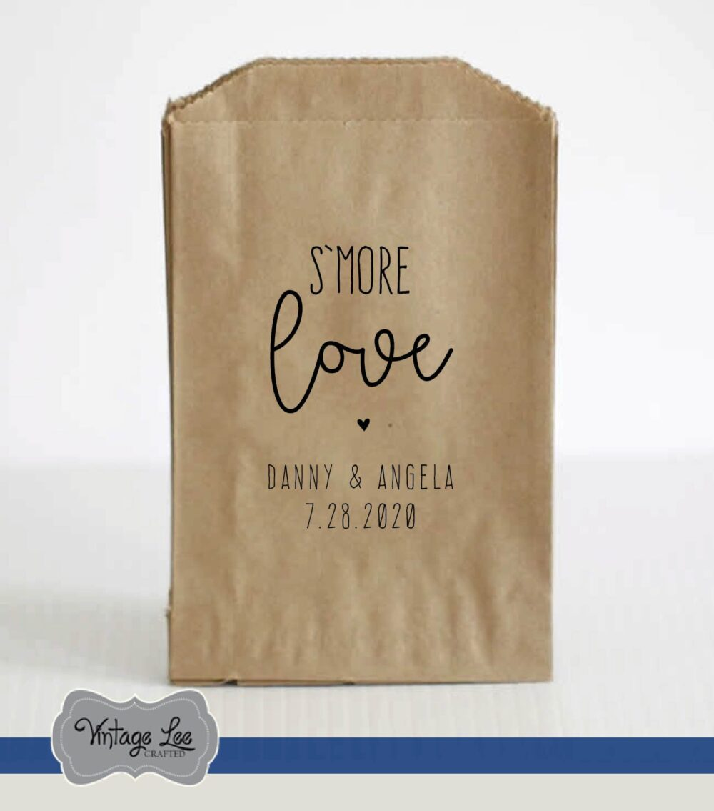 Wedding Favor Bags For S'more, S'more Bags, S'more Bar Bar, Kits