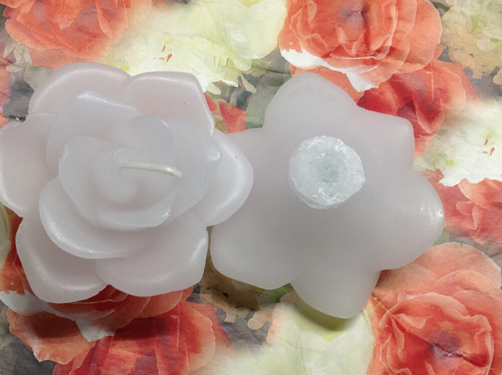 3 Inch Floating Rose Bud Candles, Scented Votive Candle With Heavy Wick, 2 1/2 Inches