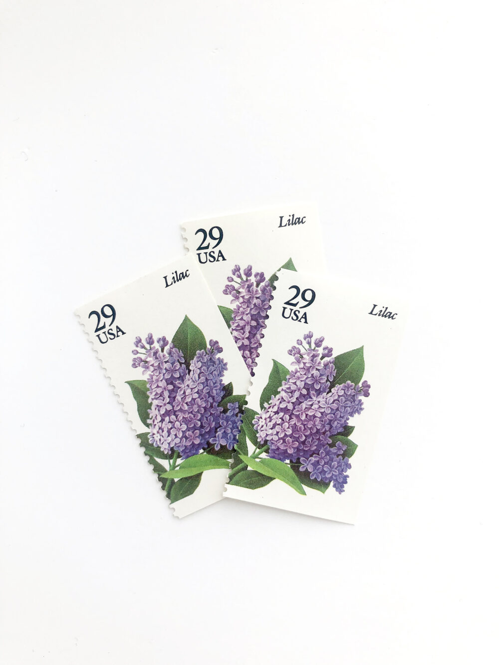 5 Lilac Postage Stamps // Unused 29 Cent Stamp Purple Floral Botanical Wedding Postage Vintage Garden Flowers