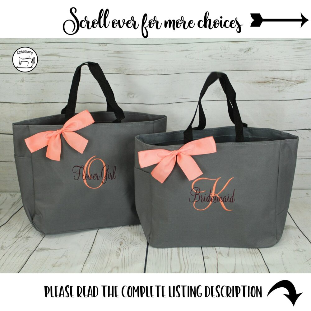 Personalized Tote Bag, Bridesmaid Gifts, Tote, Bridesmaids Gift, Monogrammed | Ess1 Bs