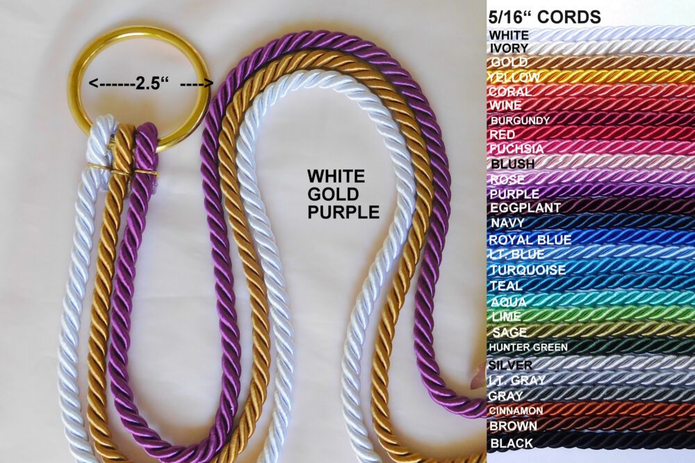 "Ecclesiastes 412, Cord Of Three Strands, Wedding Unity Cords, Braid Cord Ceremony, Knot, Gods Unity Cords, 5/16"" Cords"