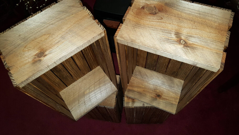 Rustic Wooden Crates 16 Inch Planter Box Wedding Reception Favors Decorations Mason Jar Vase Centerpiece Wood Reclaimed Country Display