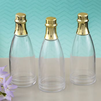 Champagne Bottle Shaped Favor Containers | Pack Of 10 Elegant Wedding Favors