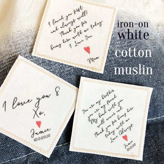 Custom Wedding Tie Patches, Patch, Iron On Patches For Wedding, Anniversary Gift, Cotton Present