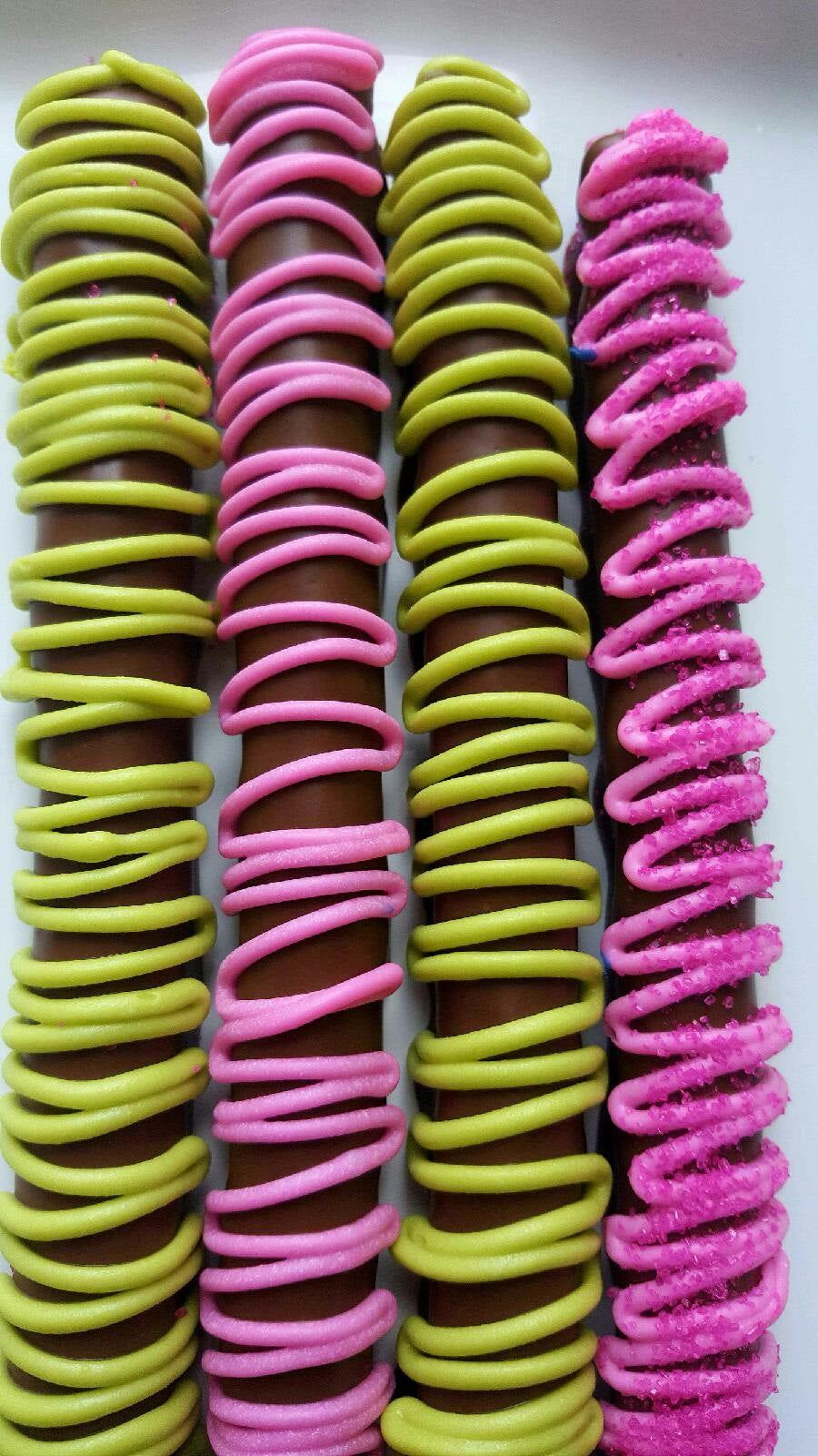 Gourmet Chocolate Covered Pretzels Baby Shower Its A Girl Princess Party Favors Boxed Gift Bridal Wedding Corporate Fundraiser Custom Orders