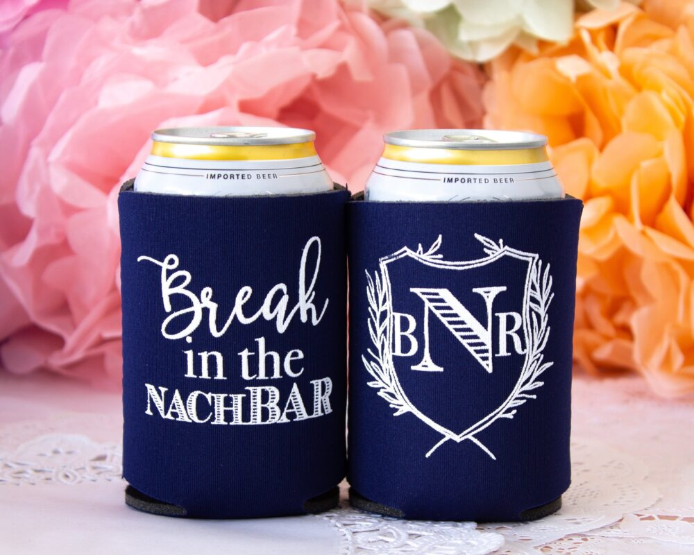 Wedding Can Cooler Favors For Weddings Personalized Custom Favor Beer Rustic Reception